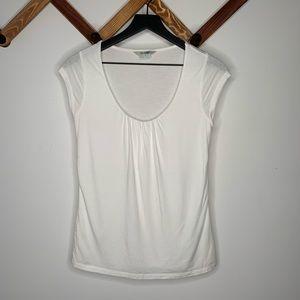 BODEN white scoop neck tshirt